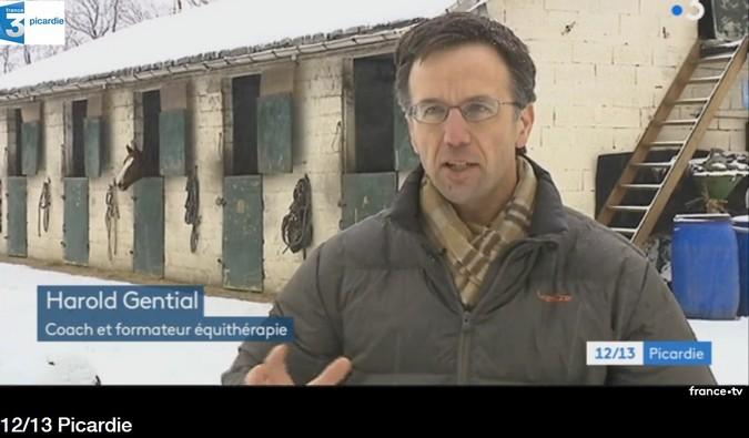 Développement personnel facilité par l'interaction individu/cheval - retombée presse au sein de France3 Picardie